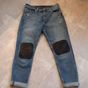 SILVER JEANS FRISCO tapered  with leather  patches